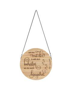 """Wandschmuck-Holz """" Ich bin mit dir..."""""""