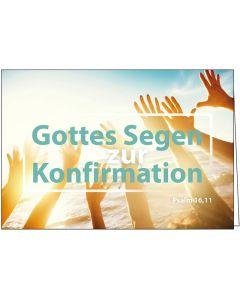 Faltkarte: Gottes Segen zur Konfirmation