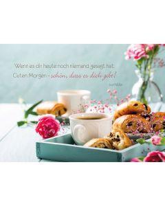 "Postkarten ""Guten Morgen"" 4er-Serie"