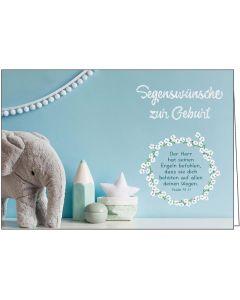 Faltkarte: Segenswünsche zur Geburt