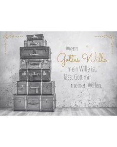 "Postkarten ""Gottes Wille"" 4er-Serie"