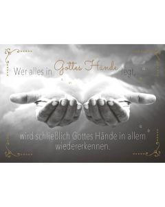 """Postkarten """"Gottes Hände"""" 4er-Serie"""