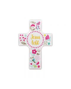 """Magnet Kreuz """"Jesus lebt"""""""