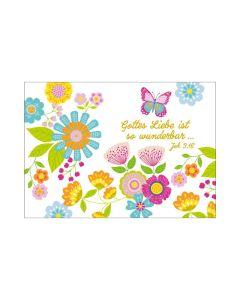 "Postkarte ""Gottes Liebe ist so wunderbar..."""