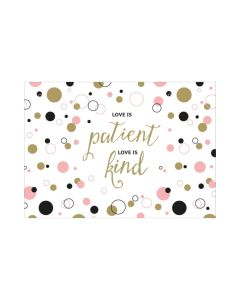 "Postkarte ""Love is patient"""