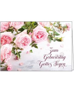 Faltkarte: Zum Geburtstag Gottes Segen