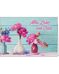 Faltkarte: Alles Liebe und Gute
