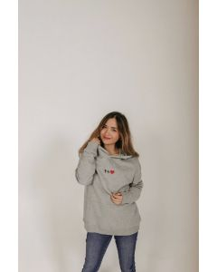 Hoodie Style Eternity Regular fit grau melange Gr. M
