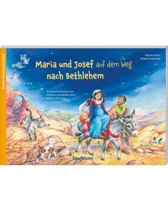 Maria und Josef auf dem Weg nach Bethlehem  - Adventskalender