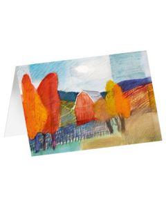 """Kunstkarten """"Herbstlaub"""" 5 Stk."""