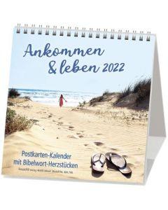 Ankommen & leben 2022 - Postkartenkalender