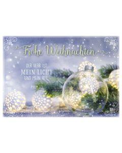 """Postkartenserie """"Frohe Weihnachten - Glaskugeln"""" 12 Stk."""