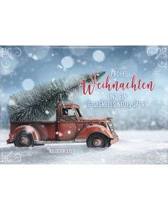 """Postkartenserie """"Frohe Weihnachten- Pickup"""" 12 Stk."""