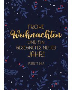 """Postkartenserie """"Frohe Weihnachten - blaue Karte"""" 10 Stk."""
