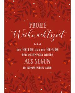 """Faltkarte """"Frohe Weihnachtszeit"""""""