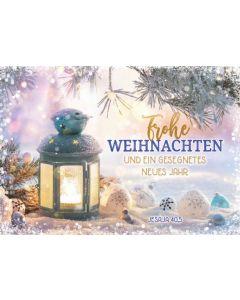 """Faltkarte """"Frohe Weihnachten - Metallwindlicht"""""""