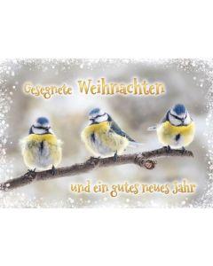 """Faltkarte """"Gesegnete Weihnachten - 3 Maisen"""""""