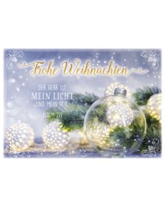 """Faltkarte """"Frohe Weihnachten - Glaskugel"""""""