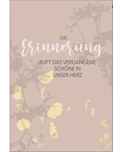 """Faltkarte """"Die Erinnerung"""""""