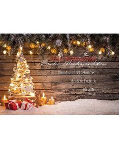 """Postkarte """"Frohe Weihnachten"""" Jes. 60, 1"""