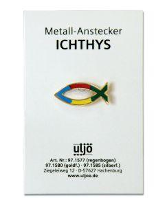 "Metall-Anstecker ""Fisch"" - bunt"