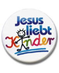"Ansteckbutton ""Jesus liebt Kinder"""