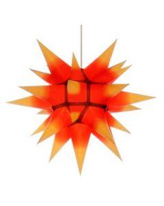 Herrnhuter Stern - Papier - gelb, roter Kern - ab 40 cm