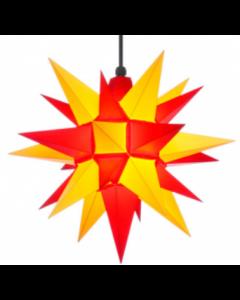 Herrnhuter Stern - Kunststoff - gelb/rot - ab 40 cm